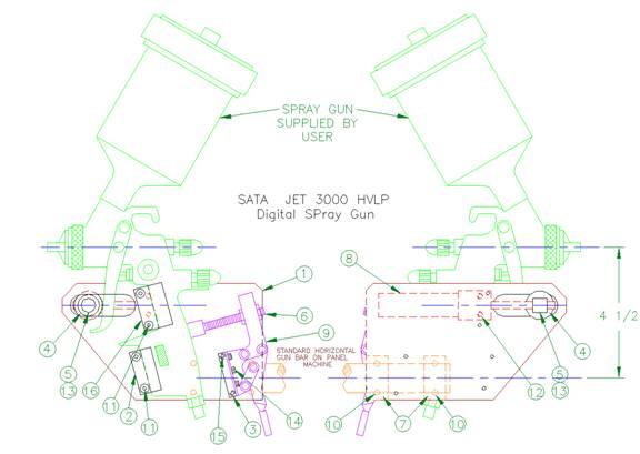 Manual Spray Gun Mount 1